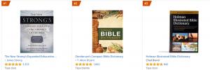 El Diccionario Strong es el número uno de la lista de los diccionarios bíblicos más populares