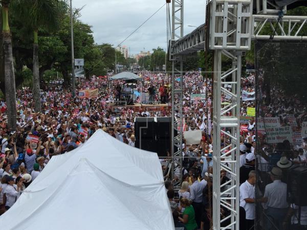 Marcha conra la ideología de género en Puerto Rico